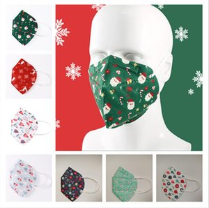 Christmas Mask xmas design Mask 5 layer christmas tree hats gifts Face Mask Mouth Cover PM2.5 Respirator Designer Face Masks STOCK E101502