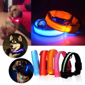Wholesale led dog safety collar for sale - Group buy Pet Collar USB Rechargable LED Dog Pet Collar Flashing Luminous Safety Light Up Nylon Dog Supplies Pets Products Accessories
