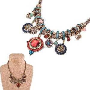 Wholesale tribal chains resale online - 1PC New Gypsy Ethnic Tribal Turkish Boho Chain Bid Necklace Tassel Pendant Fringe