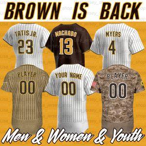 San Diego Manny Machado Jerseys Fernando 23 Tatis Jr 19 Tony Gwynn Eric Hosmer Greg Garcia 2020 Season Baseball Jerseys