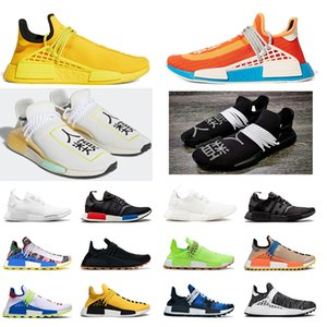 deportes desnudos al por mayor-Venta caliente Carrera Humana NMD Running Shoes Pharrell Williams Brillante Amarillo Eye Eye Chocolate Nerd Negro Pale Nude Outdoot Soporte Deportes Zapatillas deportivas