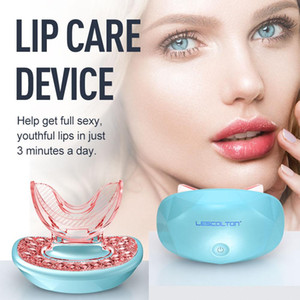 Wholesale pump lips resale online - Lip Pump Fuller Electric Lip Plumper LED Light Therapy Enhancer Sexy Thicker Lips Plumping Tool Mouth Enhancer Bigger Thicker