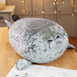 30cm Soft Cute Plush Toys Chubby Blob Sea Lion Plush Toys Sea Animal Seal Stuffed Doll Adults Baby Sleeping Pillow Gift
