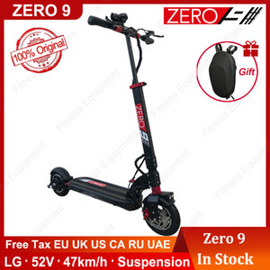 EU Stock Original ZERO 9 48V 52V 600W Scooter Brand New Electric Skateboard lightness instead walking scooter top speed 47km h 60km mileage