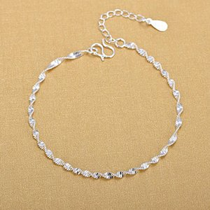 Wholesale golf bracelets for sale - Group buy 925 Sterling Sier Fashion Simple Elegant Twisted Chain Bracelets Jewelry for Women Golf Single Shoe Gifts