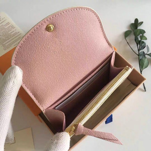 Wholesale ladies leather credit card holder for sale - Group buy card holder classic short wallet for women Fashion high quality coin purse women wallet classic business card holder lady