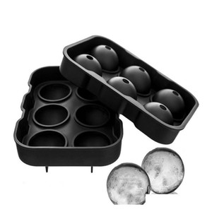 Wholesale ice ball maker resale online - Large Ice Cube Maker Silicone Ice Mold Cell Big Sphere Ice Ball Cube Tray Whiskey Wine Cocktail Party Bar Accessories Barware Y1Pq7