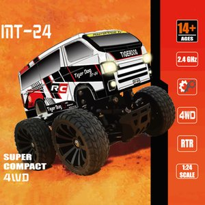 Wholesale small cars kids resale online - Kids Toys Speed Rc Car Small Bigfoot MT RC Assembly Model Puzzle Remote Drive Mini Bigfoot Off road Remote Control Car