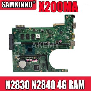 Wholesale laptop motherboards resale online - X200MA Motherboard REV2 For ASUS F200M X200M X200MA Laptop motherboard Mainboard N2830 N2840 G RAM1
