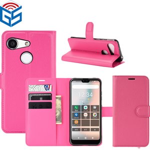 Wholesale bx resale online - For Kyocera Digno BX S6 Litchi Grain PU Leather Flip Wallet Phone Case Cover Pouch with Card Holder