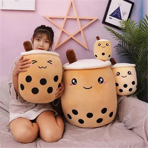 Wholesale christmas gifts for sale - Group buy Cute Fruit Drink Plush Stuffed Soft Pink Strawberry Milk Tea Plush Boba Tea Cup Toy Bubble Tea Pillow Cushion Kids Gift