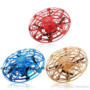 Wholesale ufo aircraft toy for sale - Group buy EMT MN2 axis UFO Induction Aircraft Toy Gsture Sensing Drone Colorful Lights USB Charging Protection Kid Christmas Birthday Gift