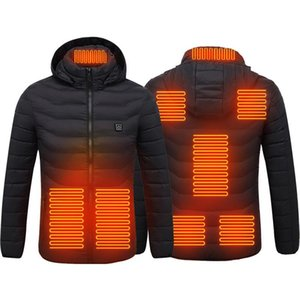 Wholesale ski jackets men for sale - Group buy PARATAGO New Men Women Heating Jackets Winter Warm USB Heated Clothing Thermal Cotton Hiking Hunting Fishing Ski Coats P9113