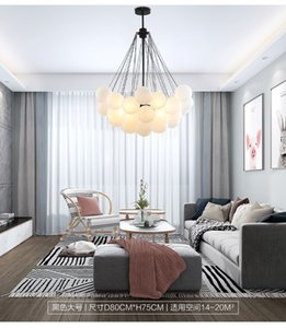 Wholesale modern classic pendant light resale online - Nordic Modern Simple Frosted Glass Ball Led Pendant Lights Designer Restaurant Dining Room Dec Hanging Lamp Classic Lighting