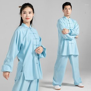 Wholesale wushu kungfu uniform resale online - High Quality Women Men Wushu Uniform Long Sleeve Tai Chi Clothing Stage Adult Martial Arts Wing Chun Suit Kungfu Outfit Cloth