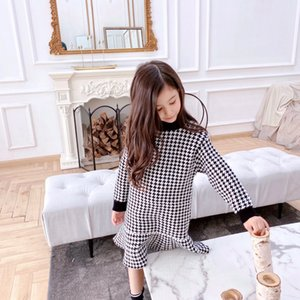 Wholesale crochet winter dress girls for sale - Group buy Kids Girls Dress Winter Cute Baby Knit Crochet Sweater Dresses Toddler Girl Cothes Solid Tops