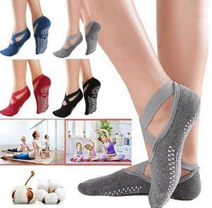Wholesale yoga toe resale online - Women s Anti Slip Fitness Dance Pilates Socks Professional Indoor Yoga Five Toe Backless Exercise Ballet Lady Training Accessory