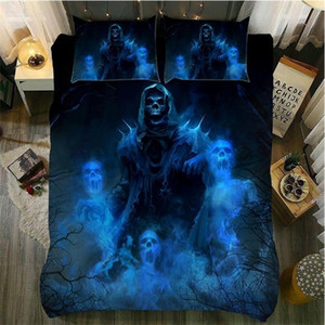 Wholesale skull bedding resale online - Fanaijia d sugar skull Bedding Sets king size Skull duvet cover set Bed bedline twin bed sets queen size comforter sets