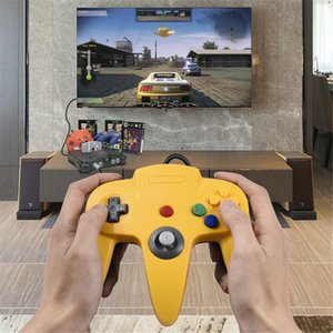 Wholesale nintendo 64 games resale online - N64 Controller Gamepad Joystick Joypad Game Pad Long Wired Game Console Handle For Classic Nintendo Consoles Games Y0114