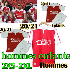 2020 21 Stade de Reims maillot de foot soccer jerseys CAFARO KONAN DIA FOKET CHAVALERIN ZENELI TOURE Men Kids hommes enfants football shirt