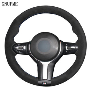Wholesale x5 wheels resale online - Car Steering Wheel Cover Black Suede For M Sport F30 F31 F34 X5 F15 M50d X6 F16 M50d F20 F21 M135i M140i F32 F33 F36 X1 F48