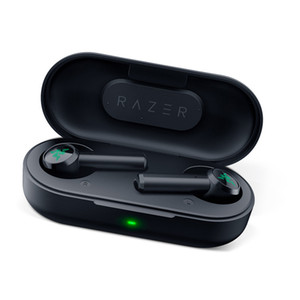 fones de ouvido bluetooth apple venda por atacado-Razer Hammerhead verdadeira Wireless Headphones TWS Bluetooth Earbuds IPX4 In Ear Microfone On Off Switch Fone Headsets