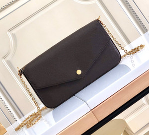 Wholesale korean fashion chain handbag resale online - Top quality A M61276 cm Fashion purse with Metal chain women Shoulder Bags Lady s Evening bag handbag wallet in Leather CrossBody bag