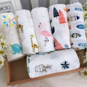 Wholesale cotton gauze baby blanket for sale - Group buy Infant Muslin Blanket Horse Infant Gauze Swaddle Baby Bathroom Towels Robes Infant Swadding Muslin Swaddle Cotton Baby Quilt sea KKB4324
