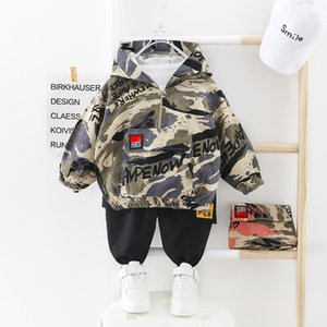Wholesale penguin suits resale online - Kids Boy For Green Baby Hooded Suit Pants Gifts Camo Sport Children Boys Outwear Baby Top Clothes Newborn Camouflage Kids CY200515 Dpgih