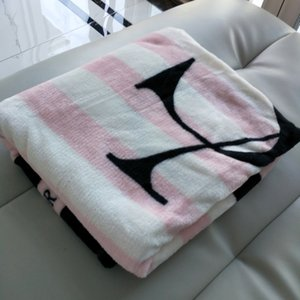 Knitted Gray Black Striped Thin Throw Blankets Manta Coral Flannel Blanket Sofa Couch Bed Plane Travel Plaids Summer TV Blanket