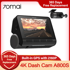 Wholesale 24 hours recording camera resale online - 70mai K A800S Dash Cam ADAS Real K Camera Car DVR Built in GPS Dual Vision Record Hours Parking Record Night Vision