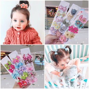 Wholesale baby's cloth for sale - Group buy 10 set Kakakids New Girls Accessories Cloth Flower Handmade Bow Baby s Leather Tendon Ornament Hair Band