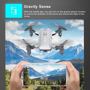 Wholesale control definition resale online - M9 four axis mini folding UAV gesture photography WiFi high definition aerial remote control aircraft children s toys Remote control to