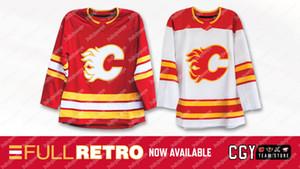 2020-21 Calgary Flames Full Retro Jersey Mark Giordano Matthew Tkachuk Johnny Gaudreau Mikael Backlund Sean Monahan Sam Bennett Cam Talbot