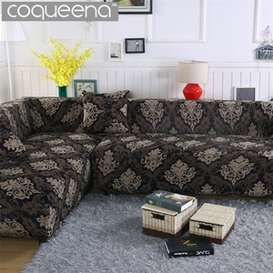 Wholesale sectional slipcover for sale - Group buy 2 pieces Covers for Corner Sofa Chaise Longue Angled Sofa Sectional Slipcover Universal Stretch Elastic L Shaped Couch Covers LJ201216