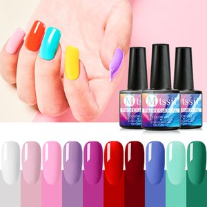 Wholesale nails resale online - Mtssii ml Pure Color Nail Gel Polish Nail Art Varnish Hybrid Soak Off Gel Lacquer Long Lasting Lacquer Led Salon Manicure