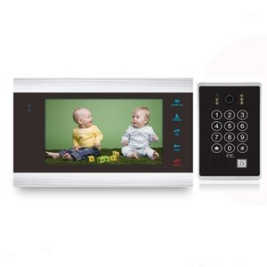 video-sprech tastatur großhandel-7Inch Video Intercom Türsprechkennwort entsperren mit Tastatur Video Intercom Waterproof HD Camera Villa System1