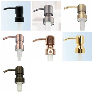 28 400 Soap Dispenser Pumps Gold Black Copper Brass Bronze Rust Proof 304 Stainless Steel Liquid Pump for Kitchen Bathroom Jar not included