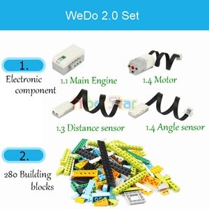 Wholesale robotic toys resale online - 280Pcs Technic WeDo Robotics Construction Set Building Blocks Compatible with legoin Wedo Educational DIY toys