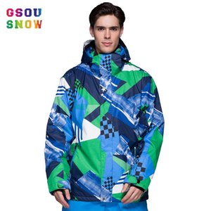 Wholesale gsou snow xl resale online - 2020 gsou snow ski suits for men skiing and snowboarding mountain jacket boys roupas para neve wintersport suit jackets mens