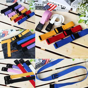 Wholesale men belt canvas webbing for sale - Group buy 2021Candy Colors Top Quality belt Unisex Plain Webbing Waistband Casual Canvas Belt Metal Buckle Men Women Boys Jeans Belts cm