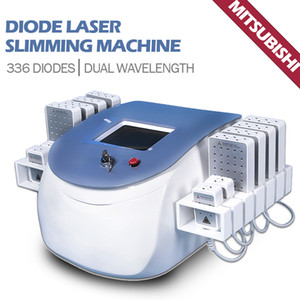 Wholesale liposuction diode resale online - Most popular lipo diode laser machine portable lipolaser slimming machine no invasive liposuction fat reduction machine pads