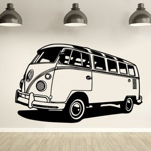 ingrosso decalcomanie mobili in vinile-Viaggio Camper Van Vinile Wall Sticker Autoadesivo da viaggio Stile Bus Stile Decalcomania Rimovibile Camper Tribute Wall Art Poster Auto Car Murales AZ305