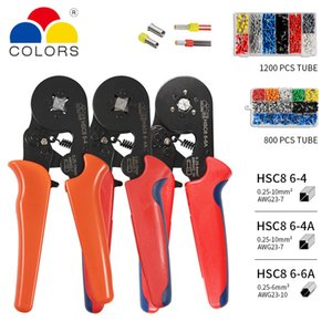 Wholesale insulated connectors resale online - Crimper Plier Set mm2 self adjustable ratchat wire crimping tool with Wire Terminal Crimp Connector Insulated Y200321