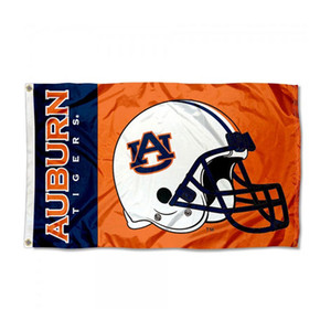 auburn fútbol al por mayor-Auburn Tigers College Football Football Casco Flag NCAA bandera x5ft Doble costuras Decoración Banner x150cm Equipo deportivo envío gratis