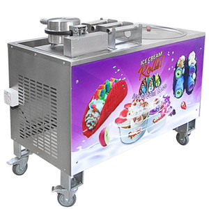Wholesale fried ice cream for sale - Group buy Kolice commercial ice cream machine with Taco Maker fried ice cream machine with taco maker Cucina Pro Tortilla Maker