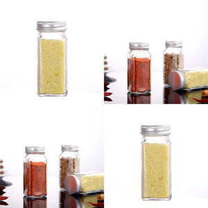 Wholesale glass pepper spice jars resale online - Transparent Glass Jars With Lids Screen Gasket Bottle Kitchen Spice Seasoning Pepper Containers Barbecue Outdoor Camp Portable New dh G2