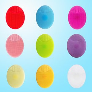 Wholesale exfoliating face for sale - Group buy Soft face brush Facial Exfoliating Brush silicone Cleaning Pad Wash Face Facial Exfoliating Brush SPA Skin Scrub Cleanser Tool DHD3733