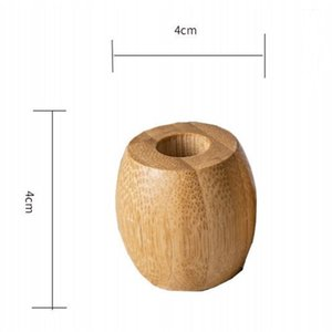 Wholesale teeth brush holder for sale - Group buy In Stock Toothbrush Holder Natural Bamboo Wooden Color Teeth Brush Stand Holders Washroom Accessories Durable cd E1