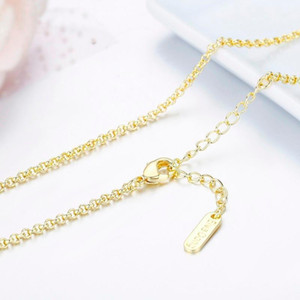 Wholesale yellow brass chain for sale - Group buy 35 cm Brass W Yellow Gold Color Rolo Chain Short To Long Choker Necklaces For Women Girls Kids Baby Men Jewelry Kolye Ketting1